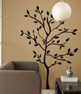 BiG Mural Wall Stickers Black Leaves Room Decor Vinyl Decals RM1