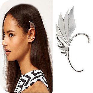 Europe punk Elf ears hanging metal Fairy Angel wings earhook Cool