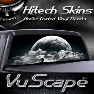 Vuscape Truck Rear Window Graphic   FULL MOON RISING