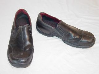 Newly listed Rockport XCS Black leather Casual Loafers shoes mens size