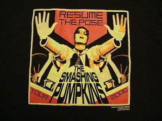 Vintage The Smashing Pumpkins 2000 Concert Tour Black Graphic Print T