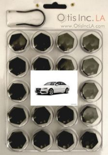 99 9712 B S4 BLACK lug bolt covers AUDI S4 wheels FREE SHIPPING in the