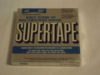 Realistic Supertape Blank Reel to Reel 5 Tape NEW