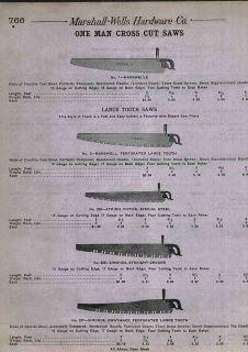 1912 AD Marshall Atkins Victor Simonds Away Back One 1 Man Cross Cut