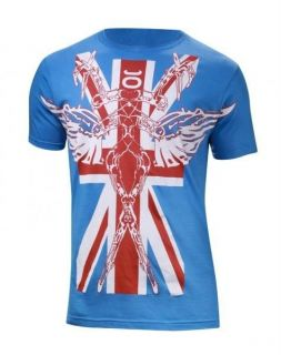 JACO UK UNITED KINGDOM WALKOUT MMA SHIRT BLUE SMALL