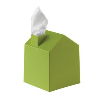 Contemporary Modern Casa House Avocado Green Square Tissue Box Cover