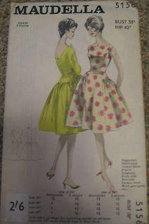 NEW Vintage 1950s Sewing Pattern Audrey Hepburn/Mad Men Style Dress