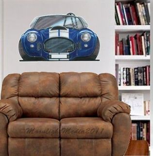 Car Cartoon Muscle Car WALL GRAPHIC FAT DECAL #4919 MAN CAVE DECOR
