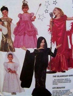 6154 GLAMOUR GIRLS Toddler Little Girls S2 3 Halloween Costume Pattern