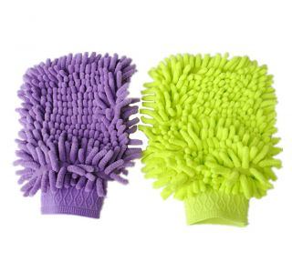 Chenille Microfiber Car Glove Cleaning Cloth Towel Easy To Wash Dry U