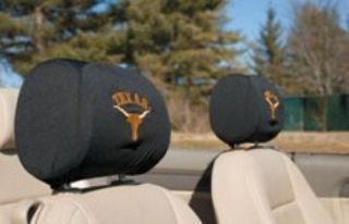 TEXAS LONGHORNS AUTO CAR SEAT HEADREST COVERS