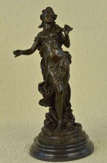 Moreau Solid Bronze Planter Roman Lady Bronze Sculpture Statue Art