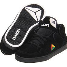 Axion Atlas Hi High Top Mid Black w/ Rasta Skate Skateboard Shoe BNIB