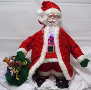 Avon 2004 Lighted Fiber Optic Musical Santa Claus Christmas Figurine