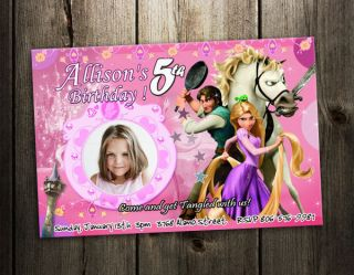 Rapunzel BIRTHDAY PARTY INVITATION CARD CUSTOM INVITE BABY SHOWER 1ST