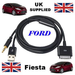Genuine FORD FIESTA 1529487 iPhone iPod USB & Aux Cable replacement