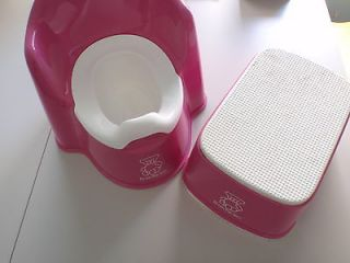 Baby Bjorn Girls Pink Potty Training Chair Seat and Stool