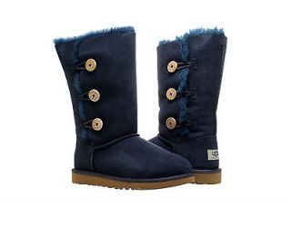 UGG Australia Bailey Button Triplet Navy Girls Winter Boots 1962 NVB