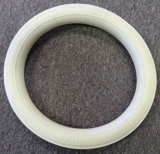 Baby Carriage Buggy Trike Hard Tire 12x1 3/8 White Vintage 11.5 inch