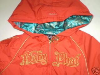 NWT BABY PHAT GIRLZ HOODED COAT JACKET GIRLS 5 6 BTS FA