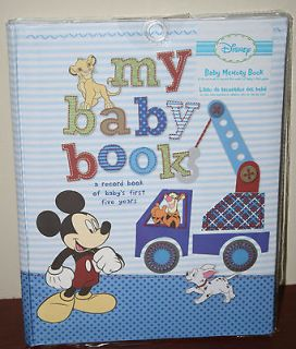 DISNEY BABY MEMORY BOOK,FILL IN RECORD KEEPSAKE BOOK FIRST 5 YEARS