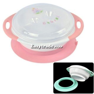 Cute Baby Infant Stay Put Bowl Wall Suction Feeding Bowl Dishes ESY1