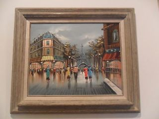 Original, Signed, Balin Oil On Canvas Parisian Street Scene