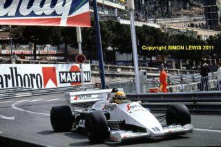 AYRTON SENNA Toleman TG184 HartTurbo. Monaco GP 1984(b)