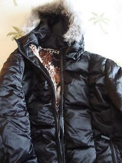 New Womens Baby Phat Black Puffer Jacket Removable Hood Size 2X NWT