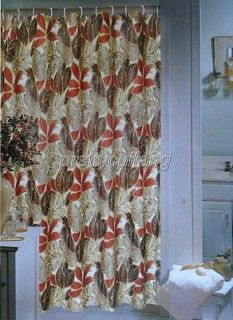 day Art Deco Floral Pictrue Bathroom Fabric Shower Curtain ps252