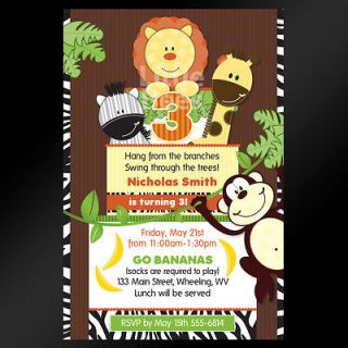 safari baby shower invitations