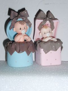 BABY GIFT IN BOX TOPPER DIAPER CAKE BABY SHOWER CUPCAKES GIFT FAVOR