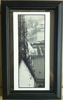 NEW FRENCH BLACK FRAMED PICTURE PRINT PARISIAN STREET SCENE 10x6.25