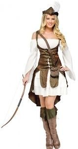ROBIN HOOD Adult Womens Deluxe Renaissance Thief Archer Costume