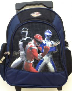 SMALL 12 in POWER RANGERS Rolling Backpack TODDLER KIDS LUGGAGE