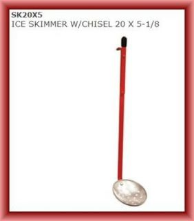New SK20X5 Eskimo Ice Fishing Ice Skimmer With Chisel 20 X 5 1/8