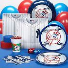 NEW YORK YANKEES MLB MAJOR LEAGUE BASEBALL PARTY SUPPLIES PACK FOR 18