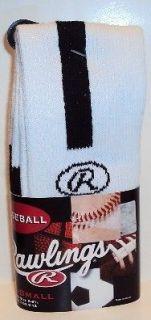 Rawlings White & Black stripe baseball socks X Small