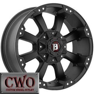 18 Black Ballistic Morax Wheels 5x114.3/5x127 5 Lug Jeep Wrangler