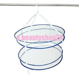 Home Sweater Drying Rack Folding Double Hanging Clothes Laundry Basket