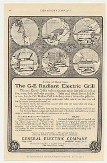 1912 GE General Electric Radiant Electric Grill Ad
