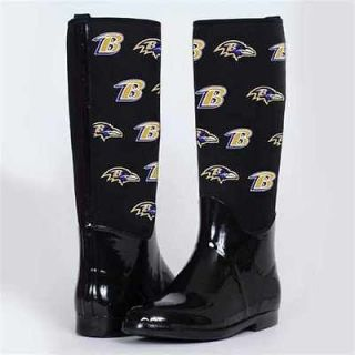 Baltimore Ravens Womens Enthusiast II Rain Boots By Cuce Shoes