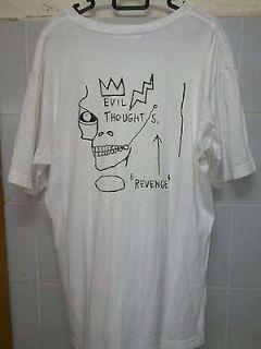 authentic vtg jean michel basquiat EVIL THOUGHT t shirt mens size M