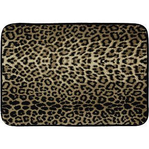 Foam Zebra Leopard Print Bath Mat Home Bathroom Floor Rug 17 x 24