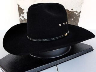 Resistol Cowboy Hat 4X Beaver Fur Felt Black Two Step George Strait