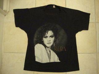 Vintage REBA McENTIRE country music 1990 concert tour 50/50 T Shirt L