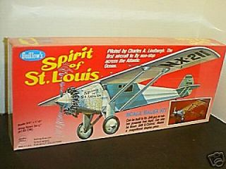 #807 Spirit of St. Louis Balsa wood Airplane model Kit New in box