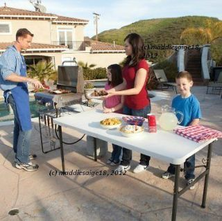 Folding Picnic Tailgating Camping Event Table w/ HD Grill Rack