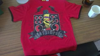 bart simpson rock and roll guitar fan FREE POST merchandise clothing