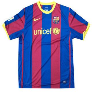 2010 BARCELONA HOME FOOTBALL SOCCER SHIRT JERSEY SIZE M & XL LIMITED
